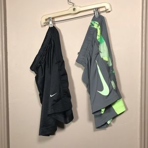 Two pairs of boys Nike Shorts Sz S